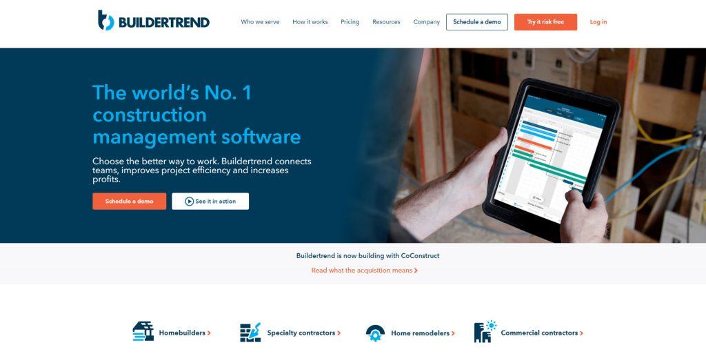 BuilderTrend Homepage