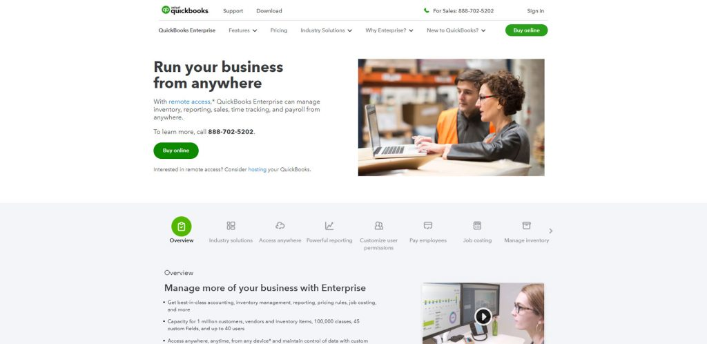 QuickBooks Desktop Enterprise Homepage