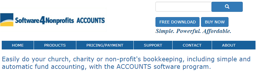 ACCOUNTS from Software4Nonprofits review