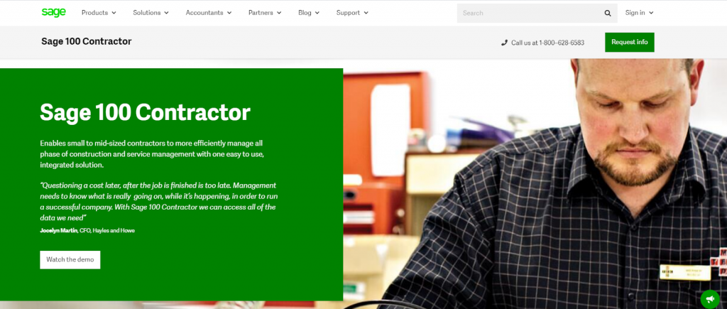 Sage 100 Contractor Review